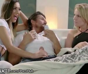 College Teen Girl Fucks Big Dick Step Dad & her MILF..