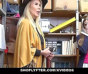 ShopLyfterGranddaughter And Grandmother Duo Fuck LP Officer After Getting Cau 10 min HD