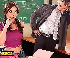 BANGBROSTeen Dillion Harper Squirts All Over Teachers Dick In Detention! 11 min HD+