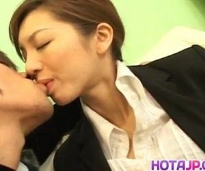 Asahi Miura Asian secretary gives amazing headfucking in the break room - 10 min