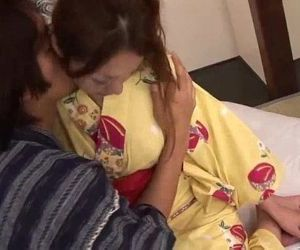 Sakura Hirota and her guy touching and fucking - 5 min