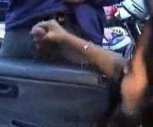 Horny teens jerking strangers at car park - 2 min