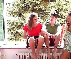 young teens threesome fun mmf 6 min HD
