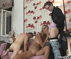 She joins family threesome