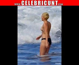 Loony Mega Celebrity Miley Cyrus Tits & Pussy Collection