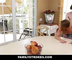 Young Step-Siblings Fuck During..