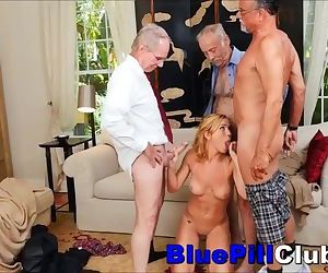 Nasty Teenage Babe Gang Fucked By..