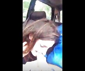 French Amateur blowjob Public in..