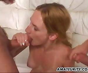 Amateur girlfriend double..