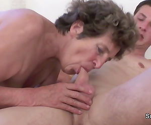 Hairy old mother get anal fucked..