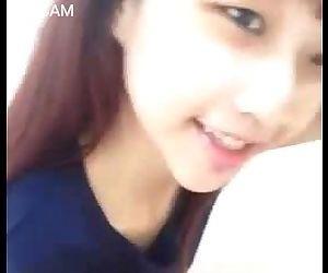 cute thailand girl selfshot pink..