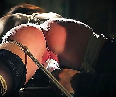 Teen sex slave is tied up and..