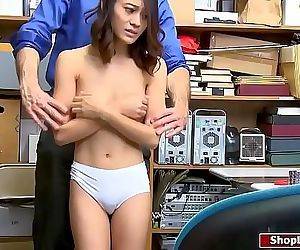 Asian shoplifter nailed by LP officer 6 min HD