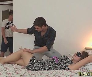 Cuckold action with tongues cheating gf