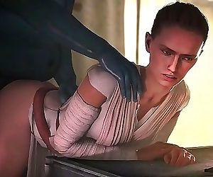 Star WarsRey Animated Compilation 12 min HD