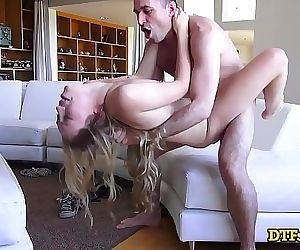Beautiful Blonde Honey Lyra Law Climaxes Multiple Times During Rough Hookup 12 min HD+