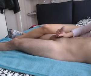 ballbusting hj with wrecked climax