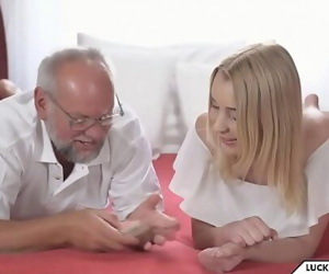 Granddaughter plays undress poker with Grandpa 6 min 720p