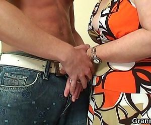 Lonely 60 years old granny gulps big hard-on - 6 min HD