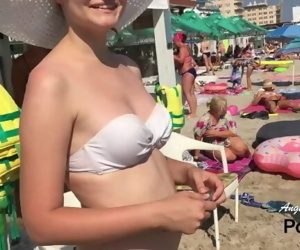 CRAZY PUBLIC Oral pleasure on pedal boat near crowded beach - Angel_And_Devil