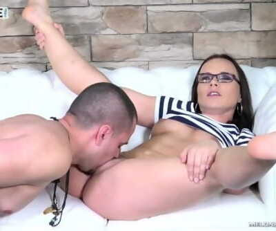 Diligent beginner cum on perfect ass after stiff times with pornstar