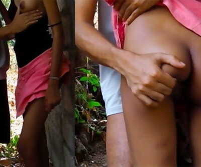 sri lankan school duo after school public outdoor leaked නැන්දගෙ දුව