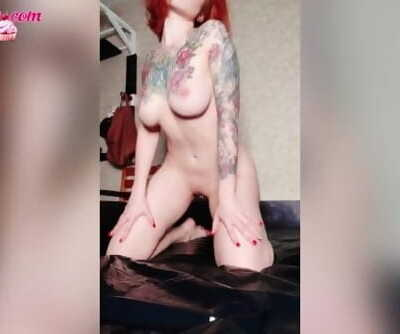 Redhead Lady Sultry Food Play - Jerk Off Tight Pussy - Katty Grray