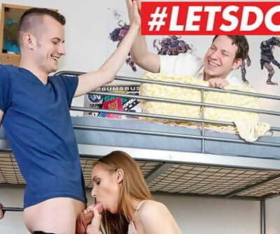 Wild Hostel - Cuckold Hubby Lets Stranger Pound His Teen Girlfriend - LETSDOEIT