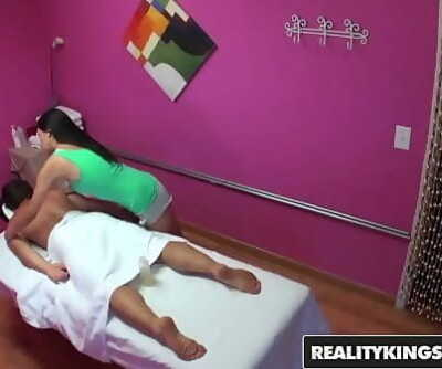 Asian teen (Vicki Chase) gives out glad finishing in the back roomReality Kings 8 min