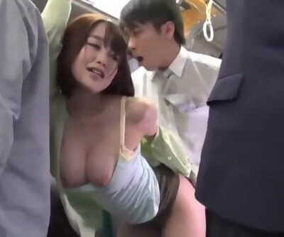 Japanese Huge Tits Pound Warm Sexy on Bus