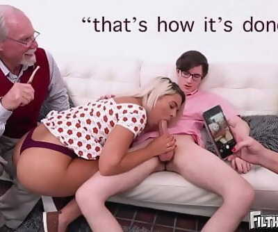 FILTHY FAMILYEveryone Joins This Distorted Orgy, Including Grandpa! 3 min