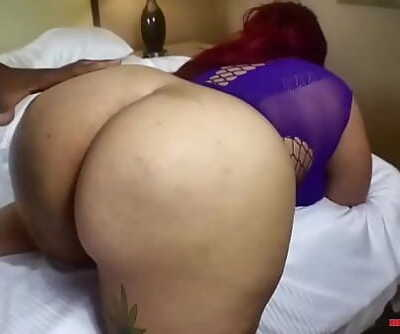 Chubby blasian getting thick cock in BBWHIGHWAY 3 min