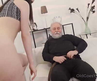 Old Heads YoungCutie turns into a kitty to please an older man 7 min 1080p