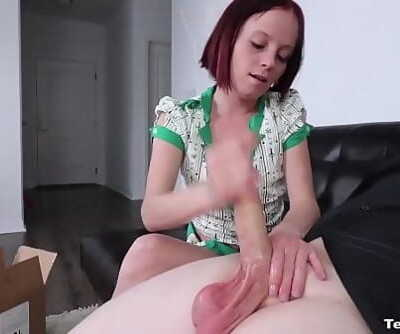 Tiny Woman in a onesie Masturbates OFF her BF in Bed 9 min 1080p