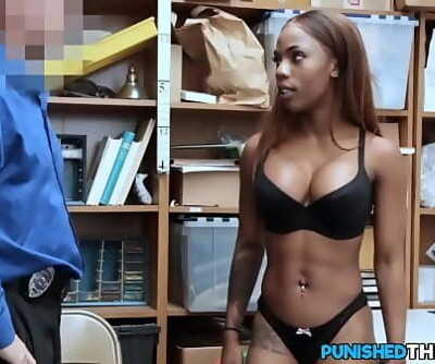 Dark-hued Employee Ass fucking Pounded For Stealing Money 8 min