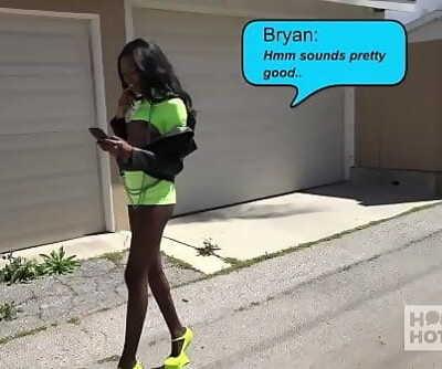Stunning ebony slut Chanel Skye gets her ball-sac pounded rough 12 min 720p
