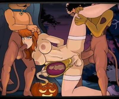 A Sticky Sap Tree Velma and Daphne Futanari Hentai Game