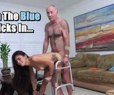 BLUE PILL Dudes - Michelle Martinez Fucked by Geriatric Man