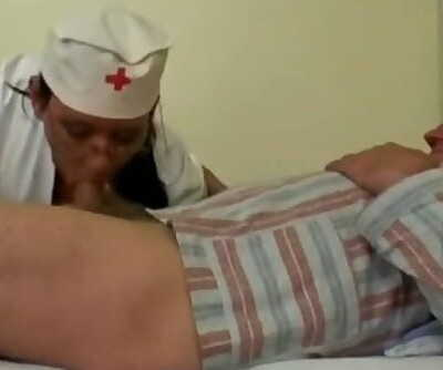 Naughty Molten Nurse Helps old Patient to get Laid