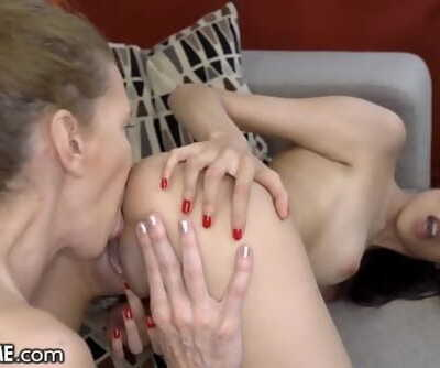 21Sextreme Teenage & Granny Pool Foreplay for Sapphic Butt licking