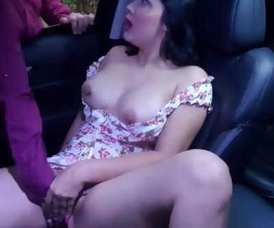 Stranger Finds me Touching me Naughty Beaver in my Car and I let him help me Bust